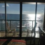 A view from the Deluxe Ocean Front room
