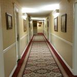 Hotel Interior Hallway to Rooms
