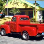 My husband Bobby Howard's Truck, parked out in front of Coconuts.