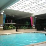 The pool area and skylight