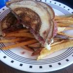 Reuben sandwich and home made fries