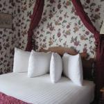 Room #300, fancy pillow arrangement
