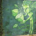 Mural que se encuentra en frente del Hostel.