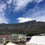 Ausblick auf den Tafelberg von der Terrasse im 1. Stock