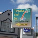 hotel sign on Simpson Bay main street