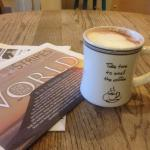 Today's special latte! Rasberry.