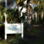 Guest photo of our Hotel sign in front