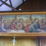 Painting inside the church