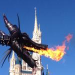 Maleficent during the daytime parade! Magical!