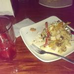 chicken baked potato and limonada fraisa... soooo goooood.