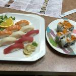 Nigiri Sushi Combo and Florida Roll