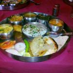 Kaveri, Restaurant Ranchi, the thali for lunch.