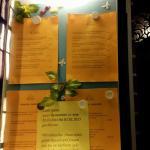 Information für die Hotelgäste, dass das -Restaurant geschlossen haz