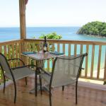Table with views towards stunning Castara Bay