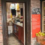 Newarke Houses Museum - entrance to Period Shop.