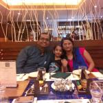 Happy moment at dinner