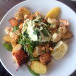 Warm seafood salad - delicious!