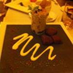 Нежный десерт с грушей в шоколаде