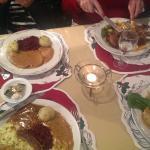 A German Christmas feast.