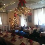 The main dining room at Christmas