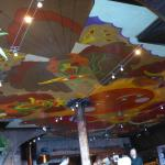 Psychedelic painted ceiling