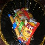 Cracker basket, minus a few that we already ate