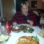 Trudi Schaller enjoying a meal at Chatni