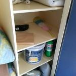 Storage cupboard contents