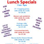 NEW Lunch Specials 11am-4pm