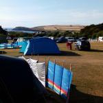 Camping at Treyarnon Bay Caravan Park