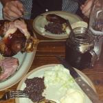 Pork knuckle platter