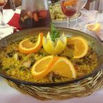 Chicken Paella for one, best on the island