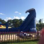 Slide beside the beach.