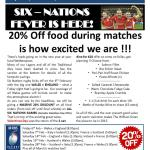 Fantastic Six Nations and Valentines offers