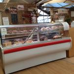 The cake counter and kitchen