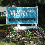 Motel Sign And Flowers