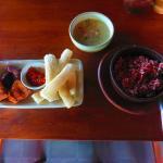 Nasi merah tempe dan sayur lodeh