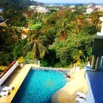 View from room of pool and kata