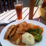 Roast pork hot dish - lunch