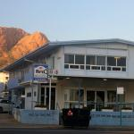 Strand Motel Townsville with Castle Hill backdrop