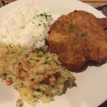 Pork Chop with Rice and Sauerkraut