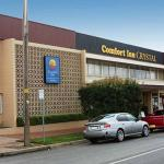 We are situated inside the Comfort Inn Crystal Motel, just past the reception.