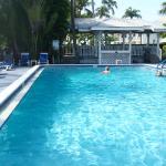 Towards pool deck