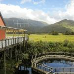 View of Salmon Farm Pools and Cafe Deck
