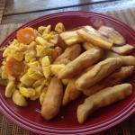 Ackee with salt fish Cooked by super Patrick