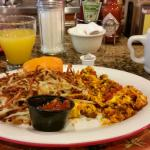 Chorizo and scrambled eggs DO go with a mimosa!  :-)