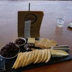 Uma das seleções de queijos