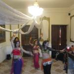Belly dancers at the hostel
