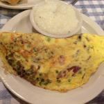 Huge omelette, but very dry