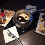 No need for words.... chocolate fondue.....